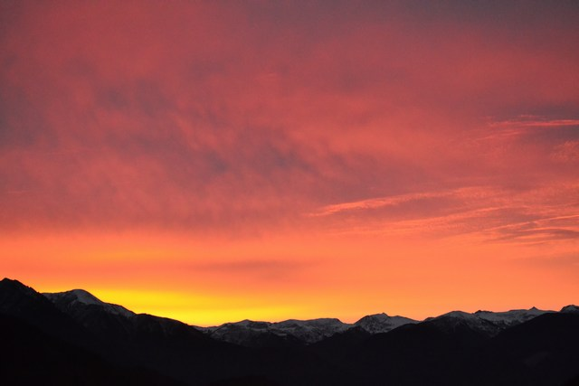 tramonto in val Camonica